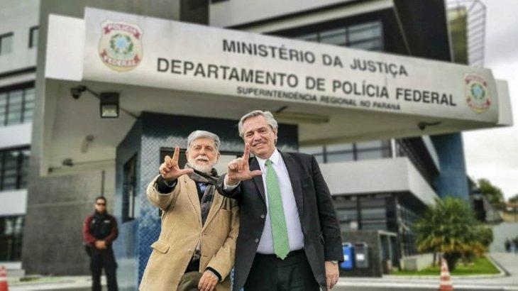 "Alberto Fernández saludó a Lula: ""Conmueve su fortaleza para afrontar esta persecución"""