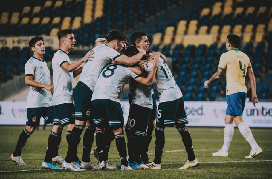 La Selección sub 23 le ganó a Brasil y se quedó con el cuadrangular United