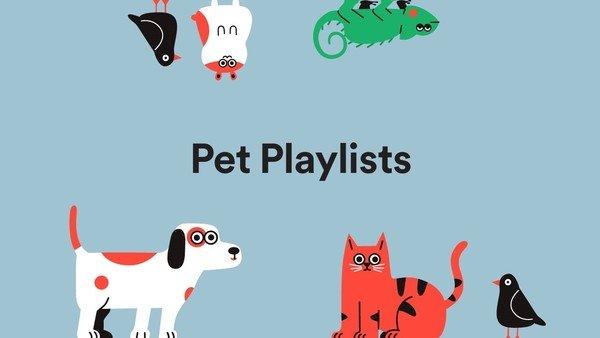 Spotify lanzó las listas de reproducción para mascotas