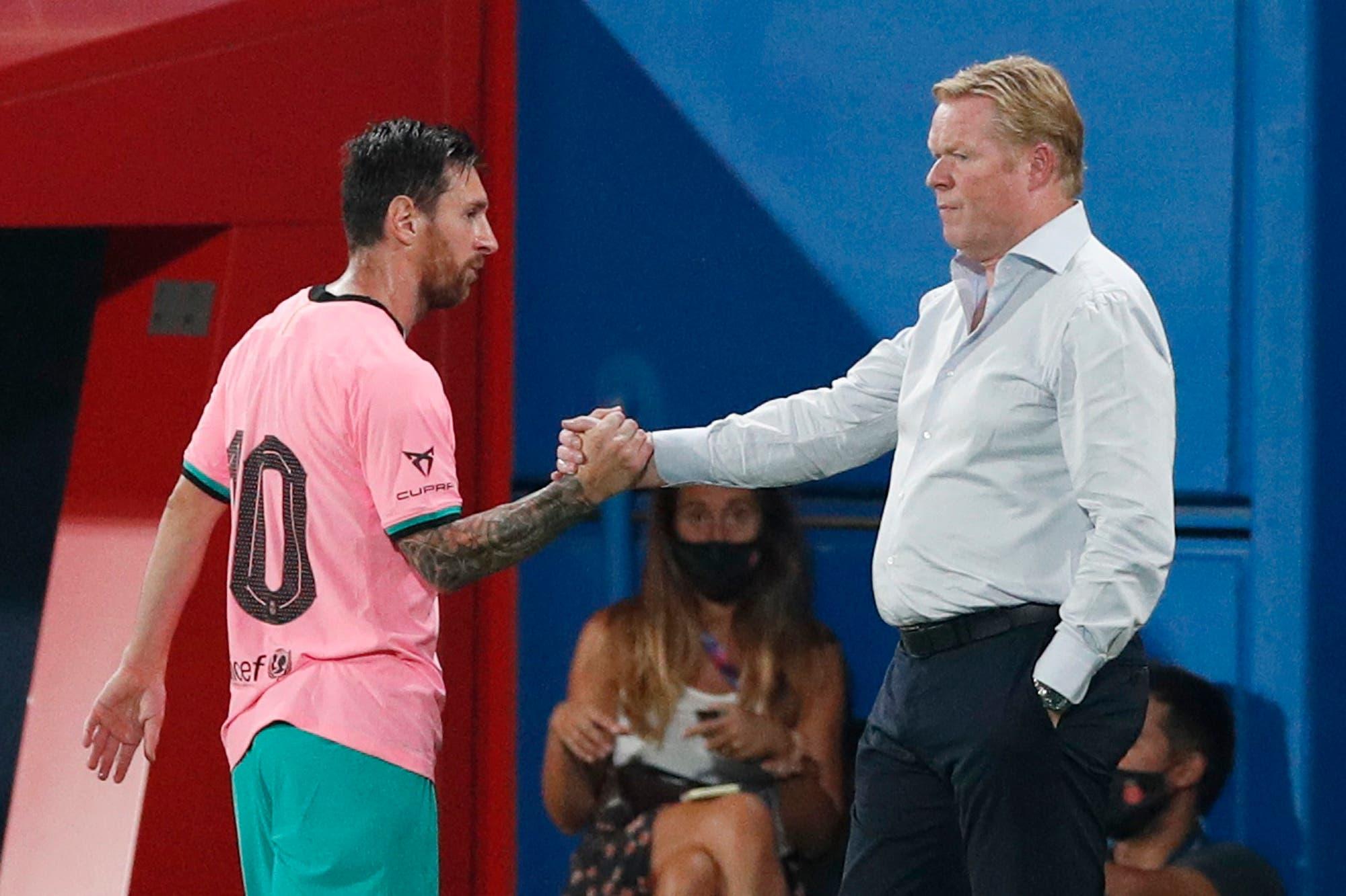 """El nuevo Barcelona de Koeman es un guiño al pasado, con aires de Cruyff y de Guardiola: Messi vuelve a ser """"el falso 9"""""""