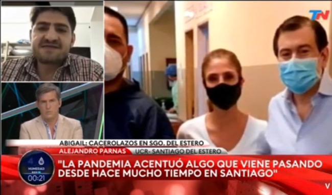 """Alejandro Parnás en TN: """"Abigail no es un caso aislado"""""""
