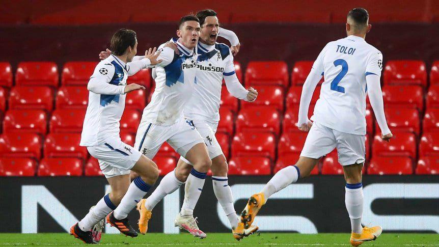 Atalanta dio el batacazo y le ganó al Liverpool como visitante