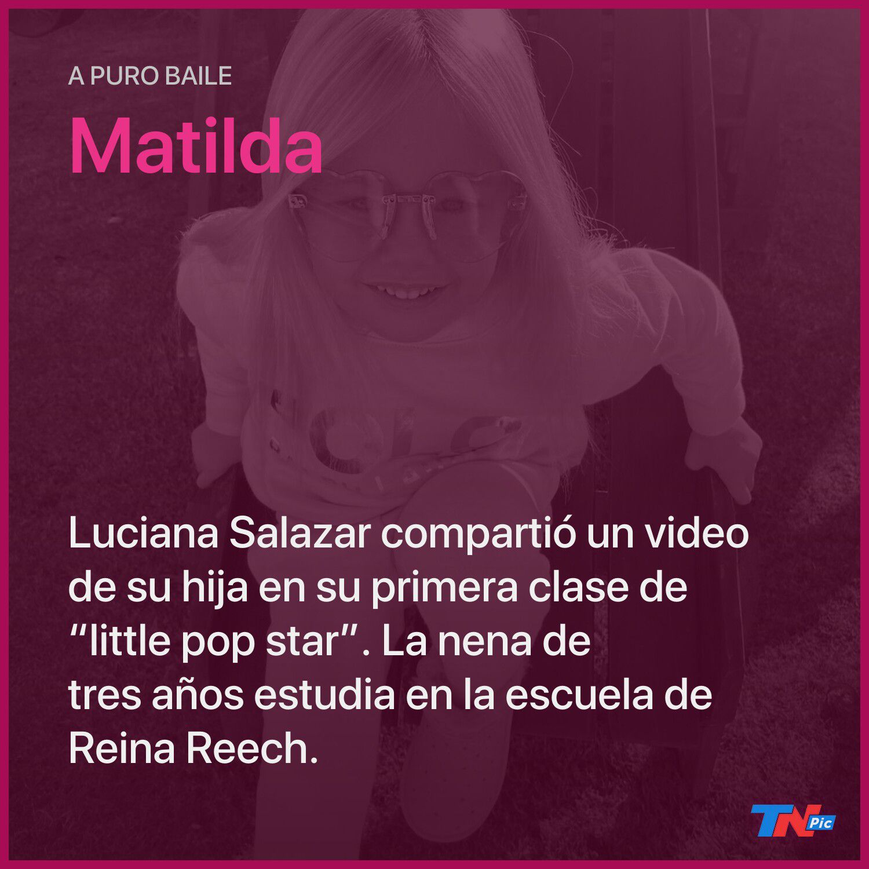 """luciana-salazar-compartio-un-video-de-matilda-en-su-primera-clase-de-""""little-pop-star"""""""